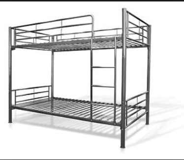 This is how the beds look when assembled - we supply two matresses too if required.