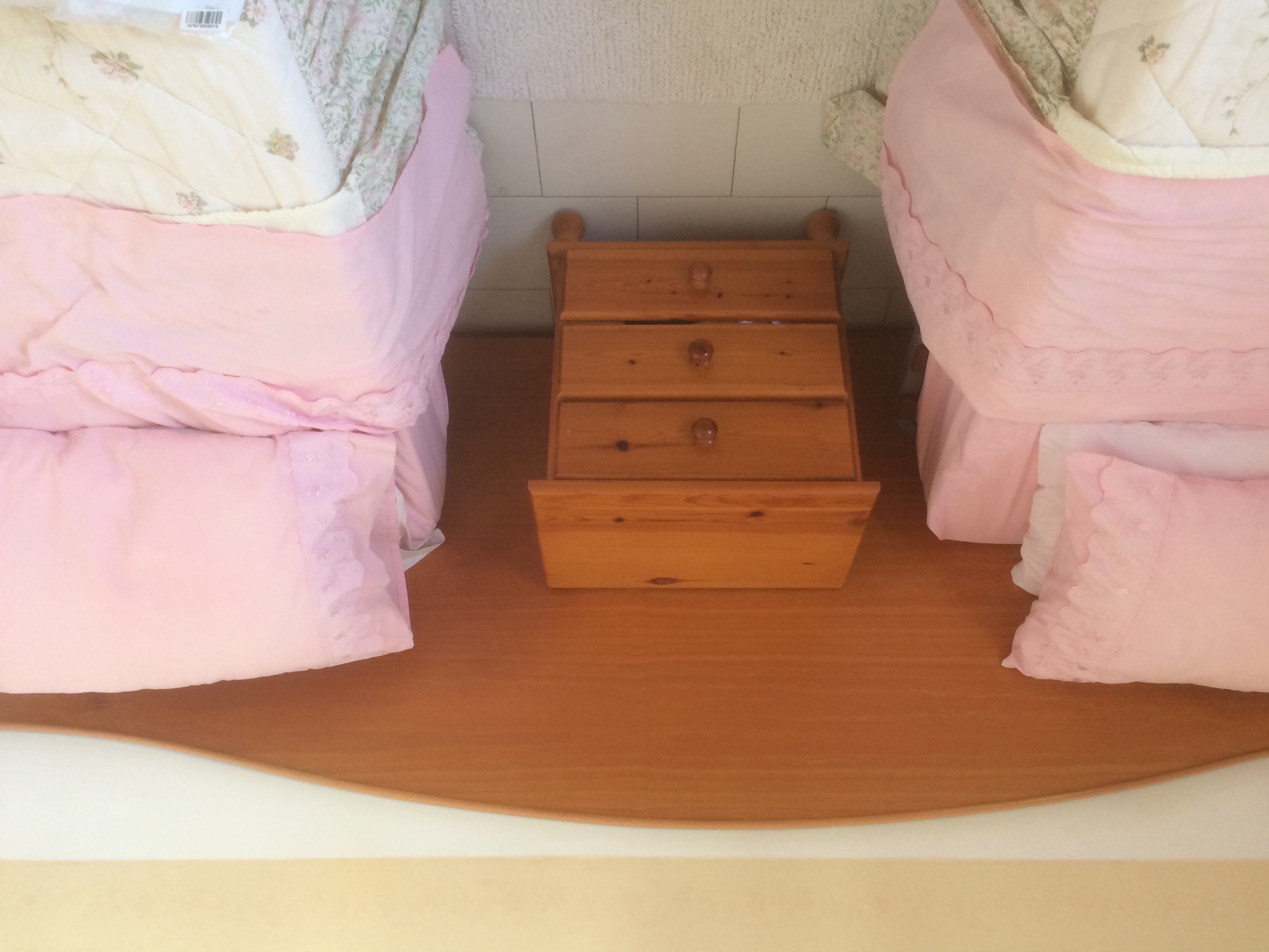 For sale: 2 single beds, headboard and bedside cabinet
