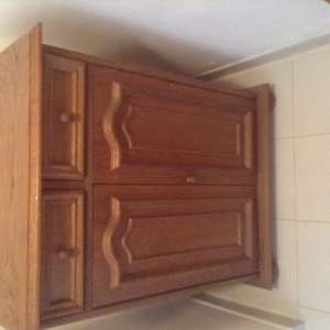 For sale: Oak cabinet/shoe cabinet