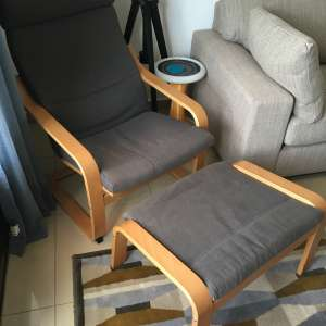 For sale: Ikea Chair and Foot Stool